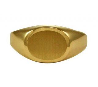 EternaGold Satin Finish Oval Signet Ring, 14K   J107646