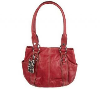 Tignanello Croco Embossed Glove Leather Shopper —