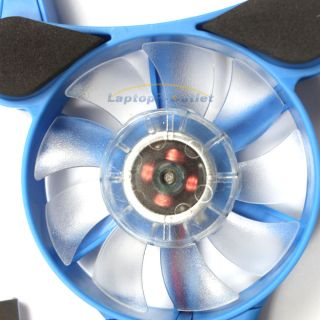 Shape Light Laptop Notebook USB Cooling Fans Cooler Pad Blue