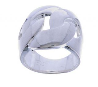 Sterling Bold Interlocking Polished Ring —