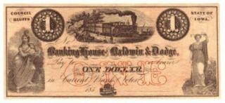 Council Bluffs IA Banking House of Baldwin Dodge $1