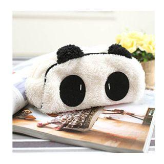 Soft Plush Panda Pencil Pen Case Bag in Bag Cosmetic Makeup Bag Pouch