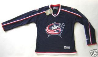 RBK Columbus Blue Jackets Home Jersey Ladies Small New