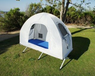 Camping Beds For Tents >> kamp rite compact tent cot double 2 person time left