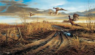 Terry Redlin Print Country Road Pheasant Encore