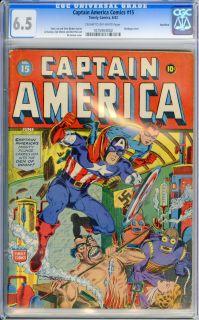 Captain America Comics 15 1942 CGC FN 6 5 Cow Natzi Swastika Rockford