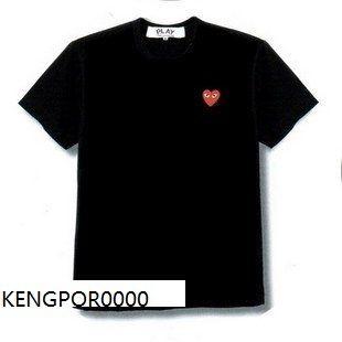 Comme Des Garcons CDG Play Mens T Shirt Black Sz L