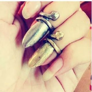 Colors Fashion Punk Cool Finger Nail Snake Design Ring Jewelry Women