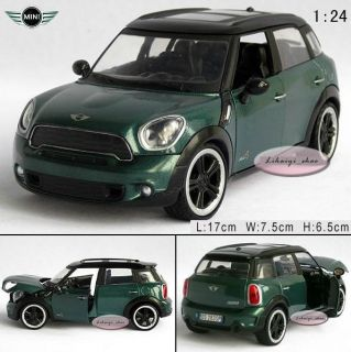 New Mini Cooper Countryman 1 24 Alloy Diecast Model Car Blackish Green