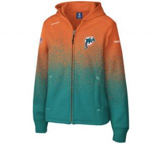 NFL Miami Dolphins Womens Ascent Drift Full Zip Hooded Fleece