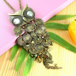Super Fashion Charm Jewelry Copper Owl Necklace Pendant New
