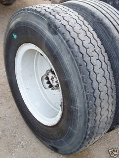 10 00x20 Truck Tires Tube Type on 10 Bolt Hole Steel Rims Good
