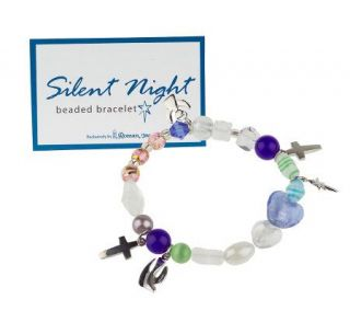 Silent Night Stretch Beaded Bracelet in Gift Box —