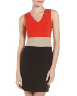 Romeo Juliet Couture Colorblock Sleeveless Dress Red