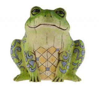 Jim Shore Heartwood Creek Frog Garden Statue —
