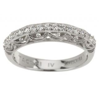 Tacori IV Diamonique Epiphany DrapedCrescents Band Ring   J265357