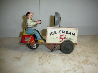 Courtland Vintage Antique Wind Up Ice Cream Scooter Bike Motorcycle