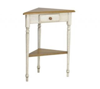 Country Cottage Solid Wood Corner Table by Office Star —