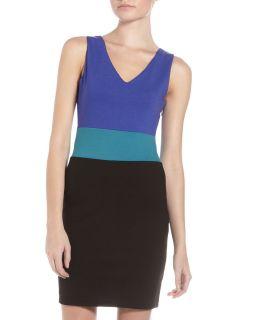 Romeo Juliet Couture Colorblock Sleeveless Dress Royal