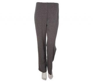 Susan Graver Double Knit Herringbone Hollywood Waist Pants   A91763