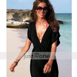 Women Ladies Sexy Swimwear Bikini Cover Up Shirt Dress