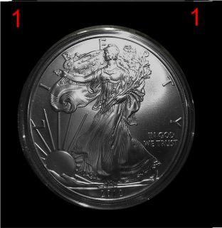2012 1 x 1 oz BU Silver Eagle Coin 999 US Mint Protective Airtite