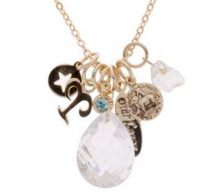 As IsKirks Fo lly Stargazer Crystal & Charm Necklace,18 1/4