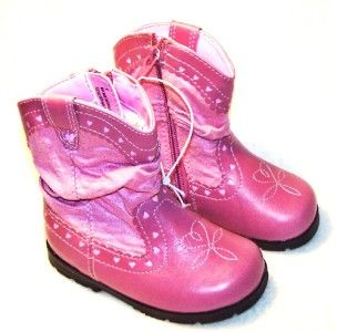 Circo Girls Toddler 4 Pink Boots Cowgirl Cowboy Hearts