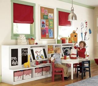 Pottery Barn Kids Activity Cameron Craft Play Table Wht