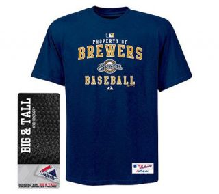 MLB Milwaukee Brewers Big AC Property Heavyweight T Shirt —