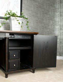 Black L Shape Liberty Home Office Return Desk Furniture