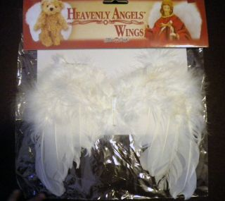 Wings Doll Bear Angels White Feather 9 x 7 25 Craft Supply