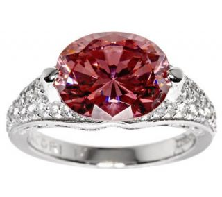 Tacori IV Diamonique Epiphany Simulated Pink Tourmaline Ring