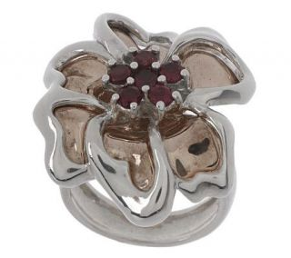 Carolyn Pollack Sterling and Copper Rodeo Romance Flower Ring