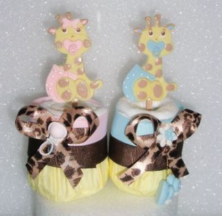 1 Giraffe Baby Diaper Cupcakes Shower Cake Favor Gift