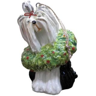 Top Dogs by Lynda Corneille Yorkie Yorkshire Terrier Ceramic Christmas