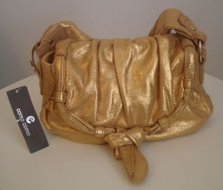 Corso Como Sonata $188 Sparkle Genuine Leather Gold Womens Handbag