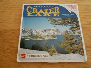 Crater Lake National Park vintage View Master reels set of 3 comp w