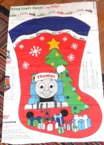 NEW CRANSTON THOMAS TRAIN & FRIENDS GIANT CHRISTMAS STOCKING FABRIC