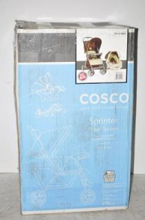 Cosco TR141AAC Sprinter Travel System Stroller Car Seat Brown Green