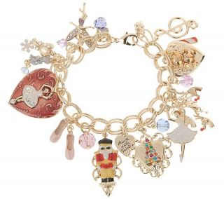 Kirks Folly Nutcracker Christmas Charm Bracelet —