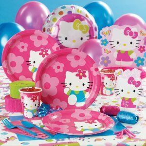 Hello Kitty Flower Fun Party Supplies You Create Your Own Set You Pick