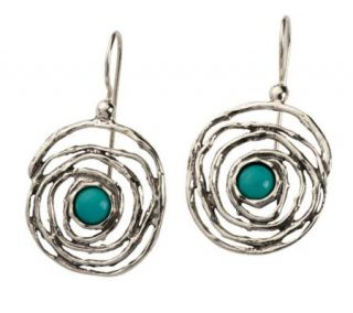 Or Paz Sterling Turquoise Swirl Earrings —