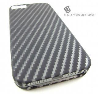Carbon Fiber Design 2 Hard Snap on Case Cover Apple iPhone 5 6th Gen