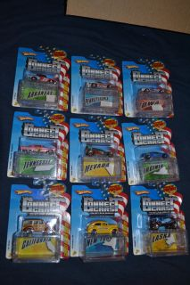 9 Hot Wheels Connect Cars States New