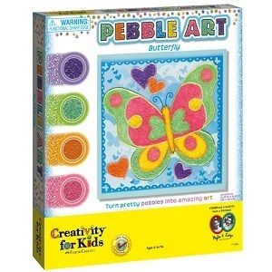 Creativity for Kids Sand Pebble Art Butterfly Kids Arts and Crafts