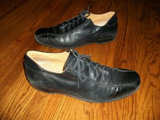 Coach Vintage Black Leather Lace Up Corwin Casual Loafer 11 Italy Sold