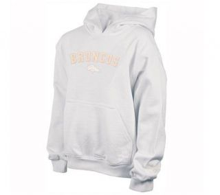 NFL Denver Broncos Girls (7 16) White Pastel Hooded Fleece —