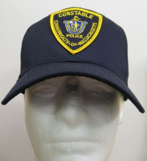 Navy Blue Mass Constable Police Patch BALL CAP/ HAT one size fits all