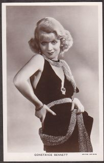 Y3696 Constance Bennett Real photo Vintage movie star postcard #652A